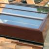 Lucernari in alluminio con vetri anti-grandine, finiture legno o colore RAL a scelta del Cliente