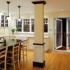 Porta balcone a 4 ante, in PVC bianco e con serratura